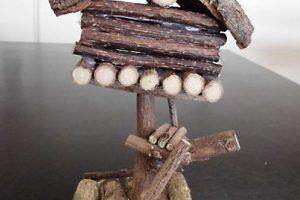 木工クラフト体験(ミニミニツリーハウスをつくろう)