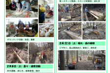 里山ボランティア活動報告(2月)